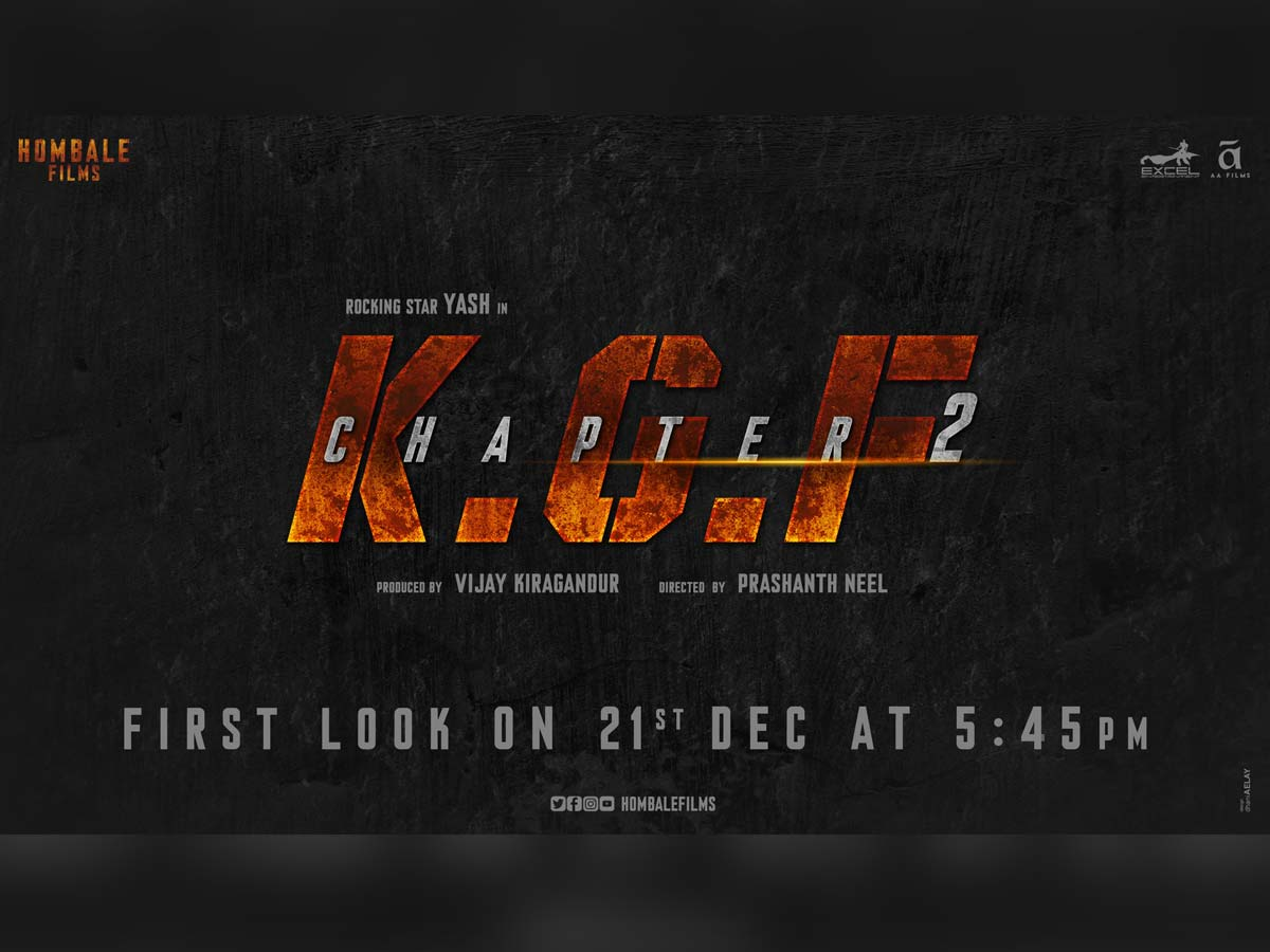 Kgf Chapter 2 First Look Poster Gets Release Date Tollywood