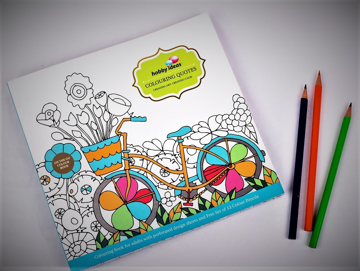 Butterflies Coloring Book and 12 Colored Pencils For Adult Coloring Book Bundle