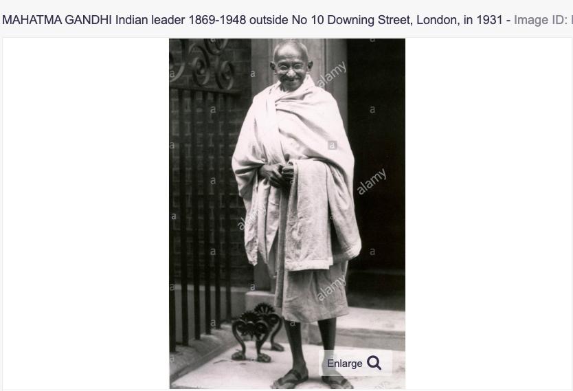 Mahatma Gandhi 10 downing street