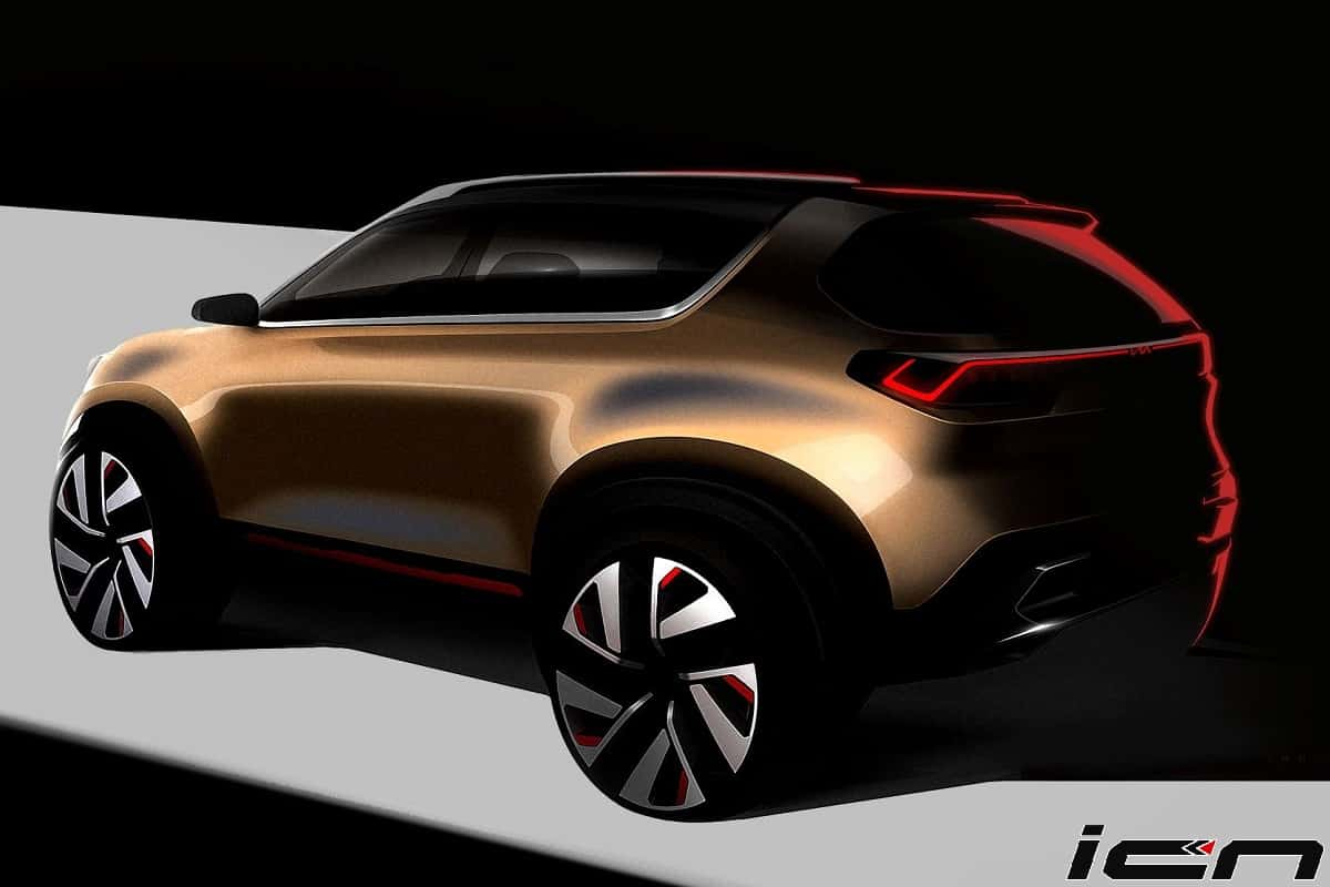 Kia Sonet Compact Suv Official Sketches Out Ahead Of Auto Expo Debut