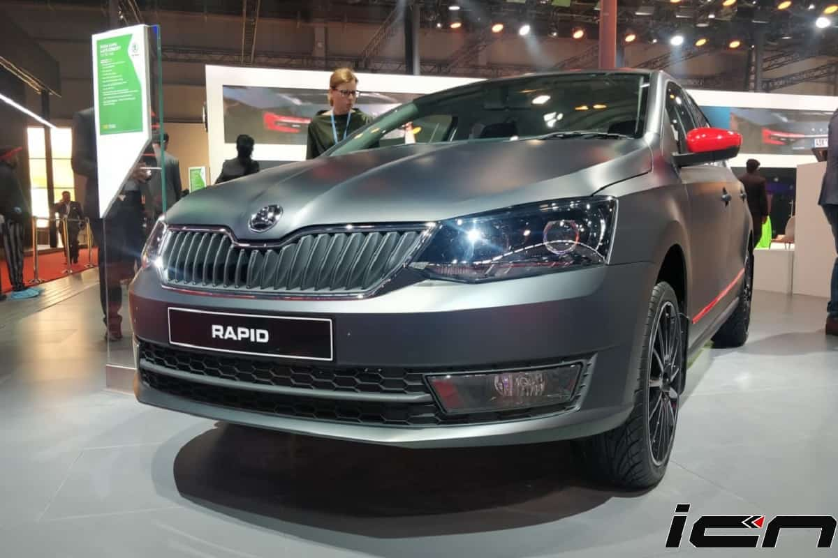 Bs6 Skoda Rapid Petrol Matte Concept Monte Carlo Unveiled