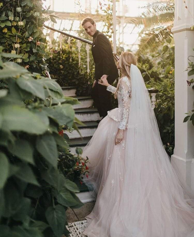 PewDiePie weds Marzia Bizognin: Pictures from the fairy tale
