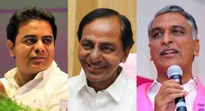 CM KCR may induct son KTR and nephew Harish Rao into